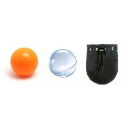 PACK CONTACT 100 - Pelota escena 100mm + Pelota Acrílica 100mm + Bolsa
