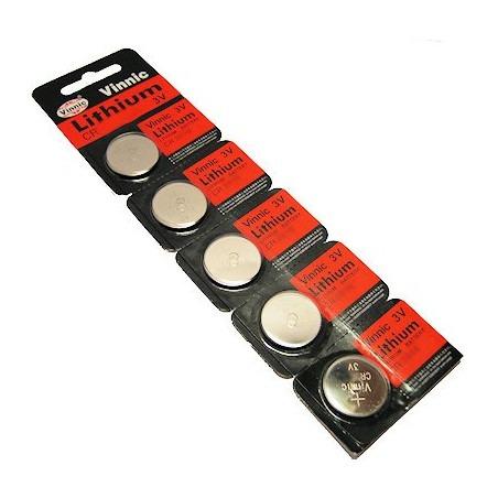 Blister 5 x pilas botón CR1632