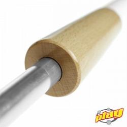 Antorcha de fuego ECO de Play Juggling - Detalle parte media de madera