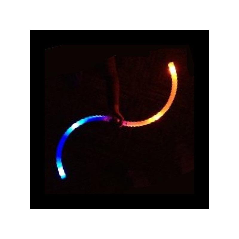 Buugeng LED Multifunción Fibra Óptica - Palo con forma de S - Par