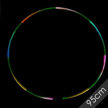 "Hula Hoop LED ""AURORA"" PRO 95 cm- Recargable - JD"