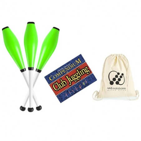 PACK MAZAS - 3 Mazas PX3 + libro Club Juggling + Mochila 441 Malabares
